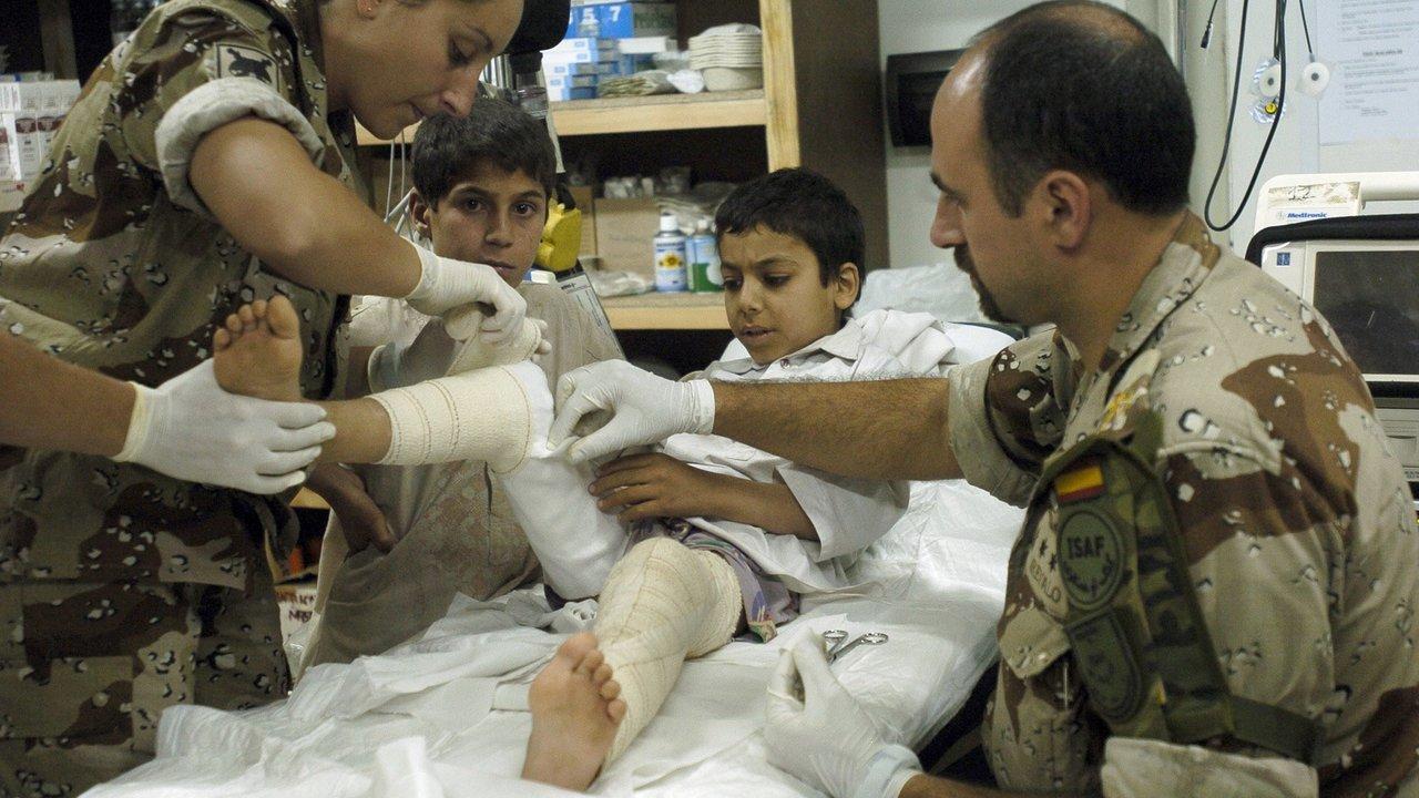 Médicos militares (Foto: Ministerio de Defensa).