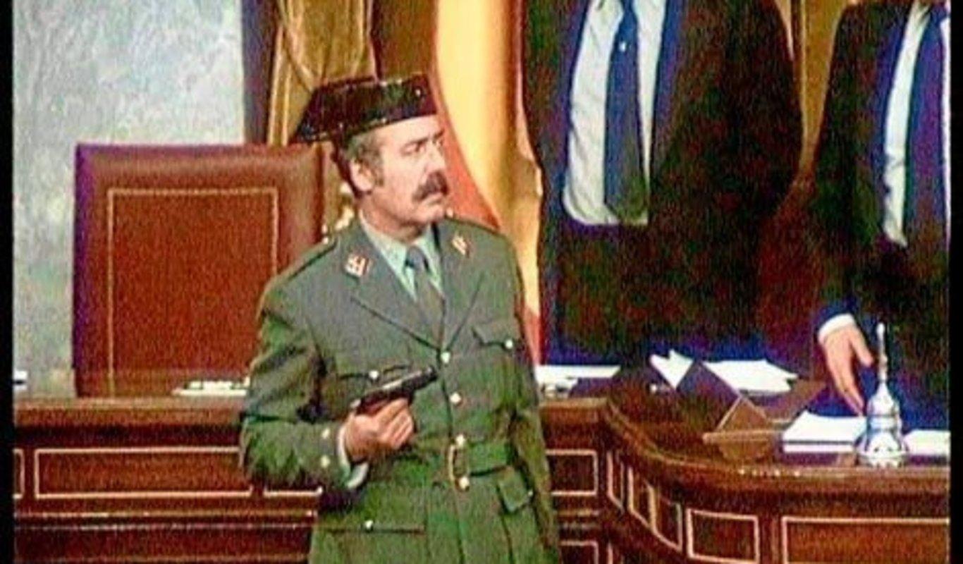Antonio Tejero durante el golpe de Estado del 23-F.