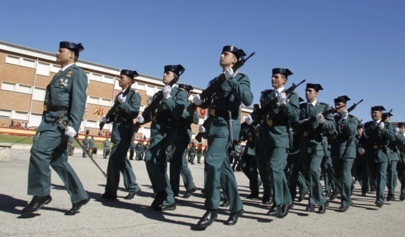 Desfile de la Guardia Civil.