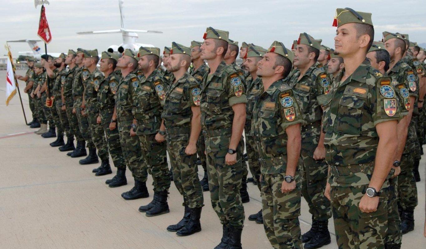 Legionarios españoles en formación.