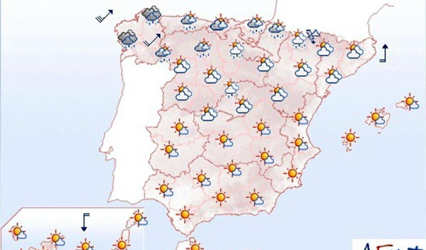 Mapa De Tiempo Espana.Este Es El Tiempo Que Va A Hacer En Espana En El Puente De La Constitucion Consulte Las Previsiones