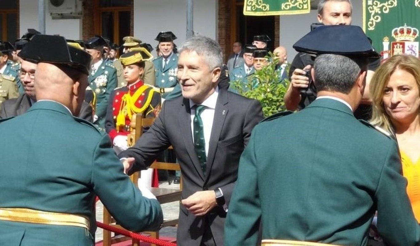 Fernando Grande-Marlaska, en un acto de la Guardia Civil.