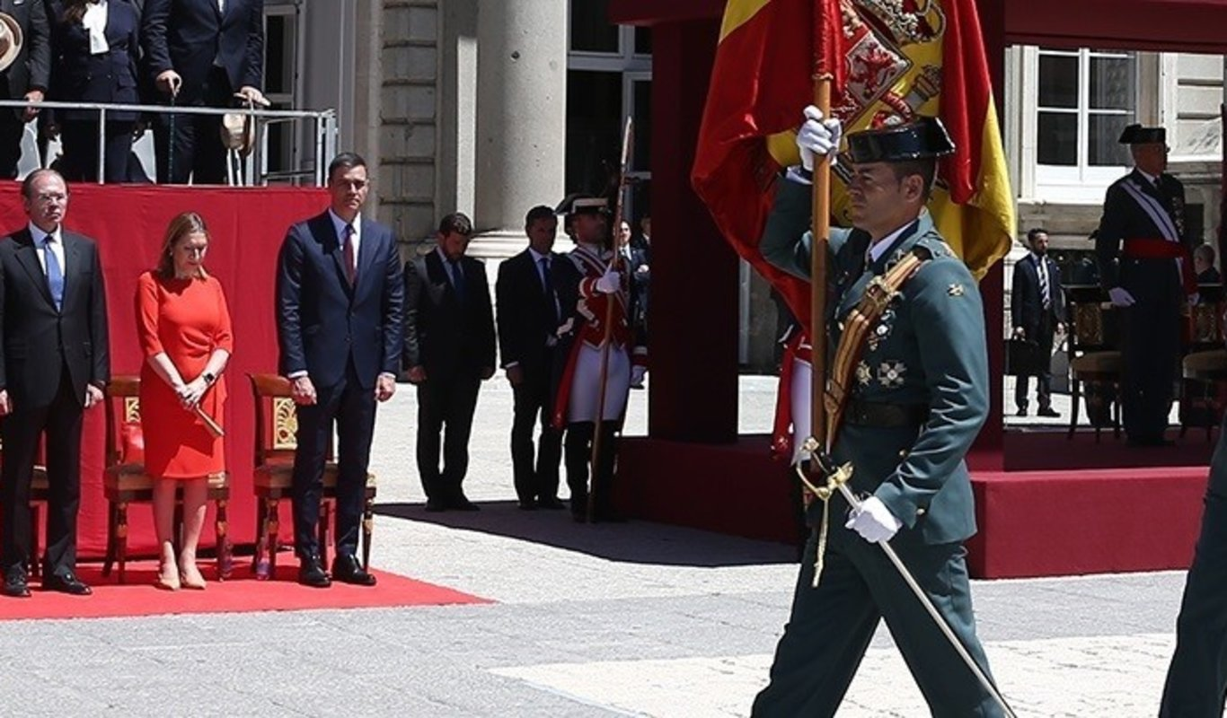 Pedro Sánchez, en un acto de la Guardia Civil.