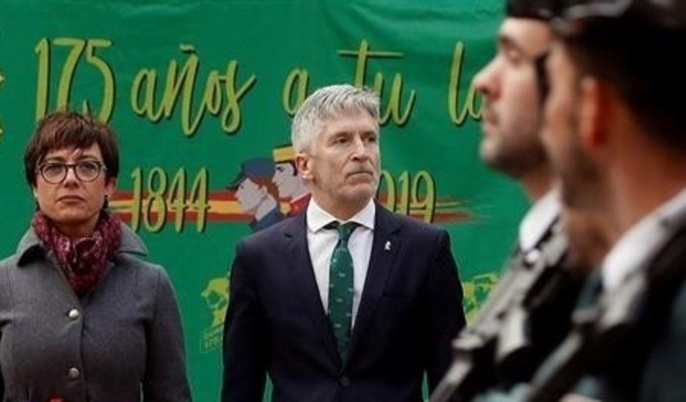 María Gámez, directora general de la Guardia Civil, y Fernando Grande-Marlaska, ministro del Interior.