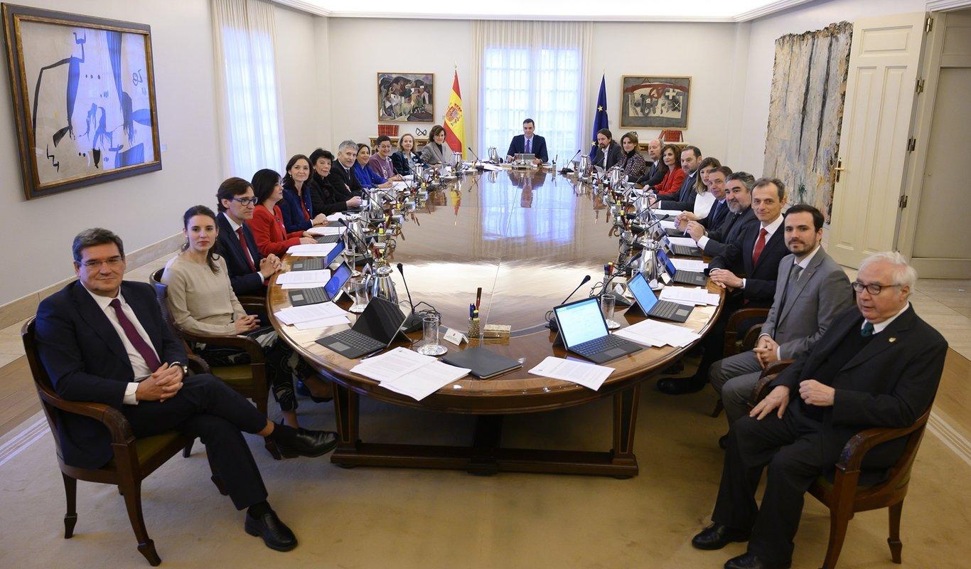 Primer Consejo de Ministros PSOE-Podemos.