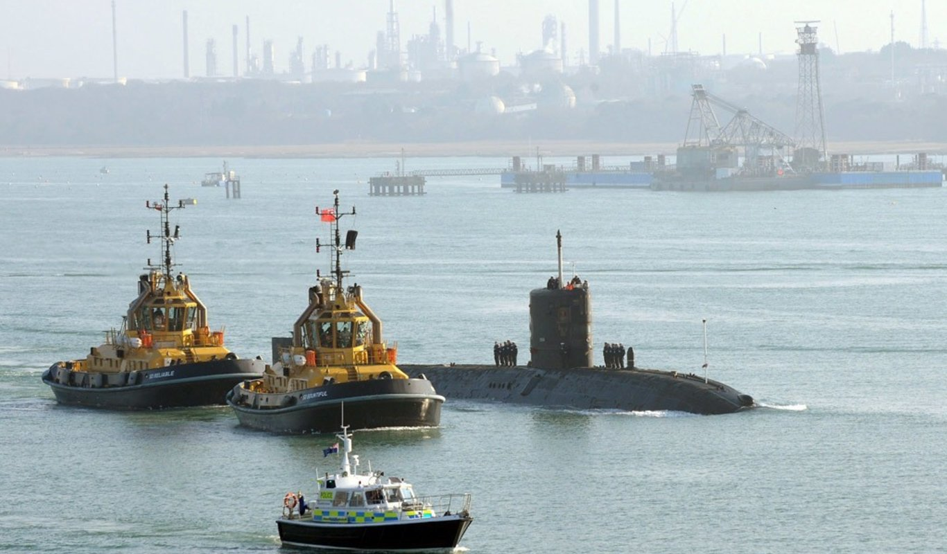 El submarino nuclear HMS Tireless.