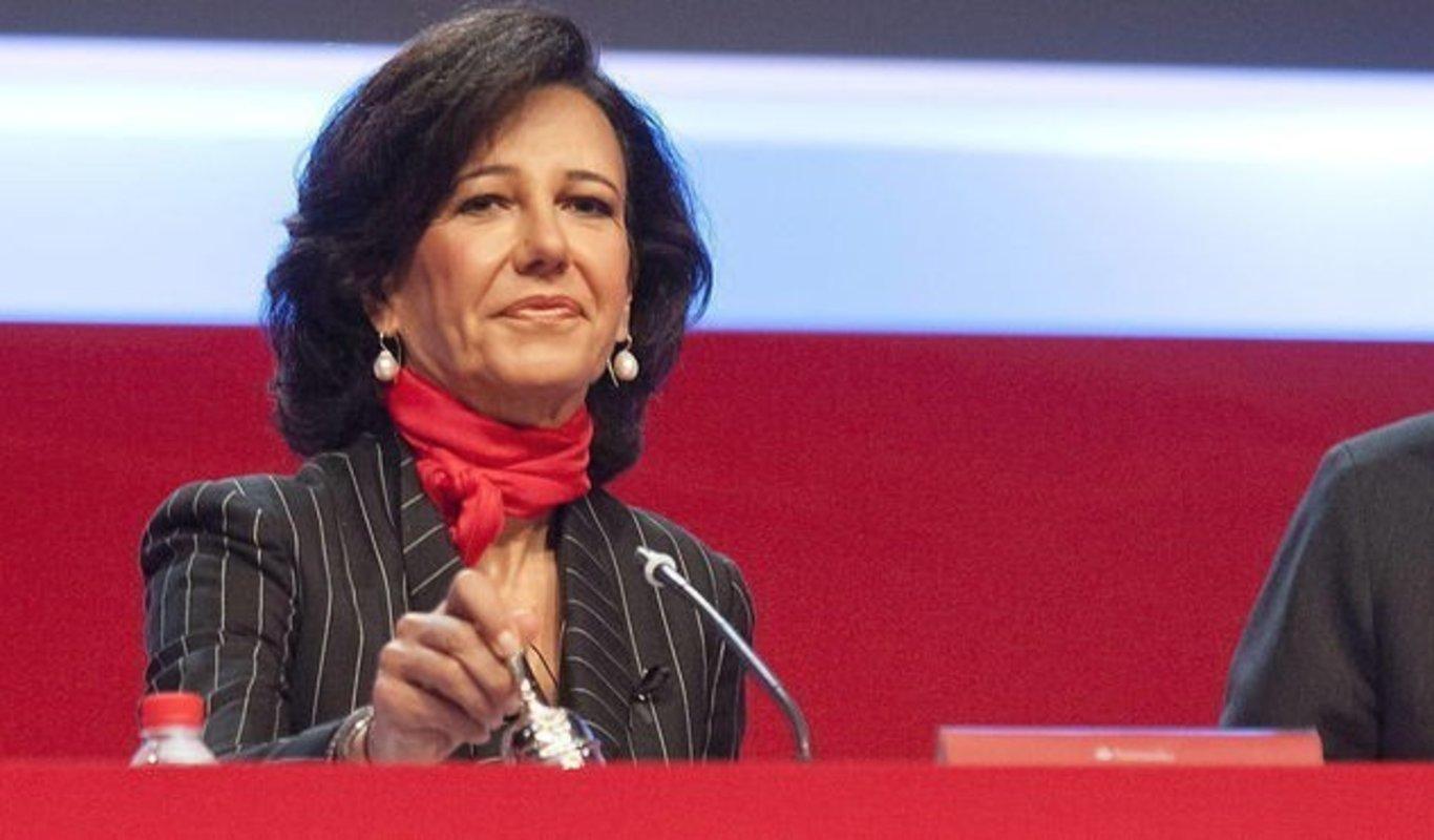 Resultado de imagen de presidenta del banco de santander