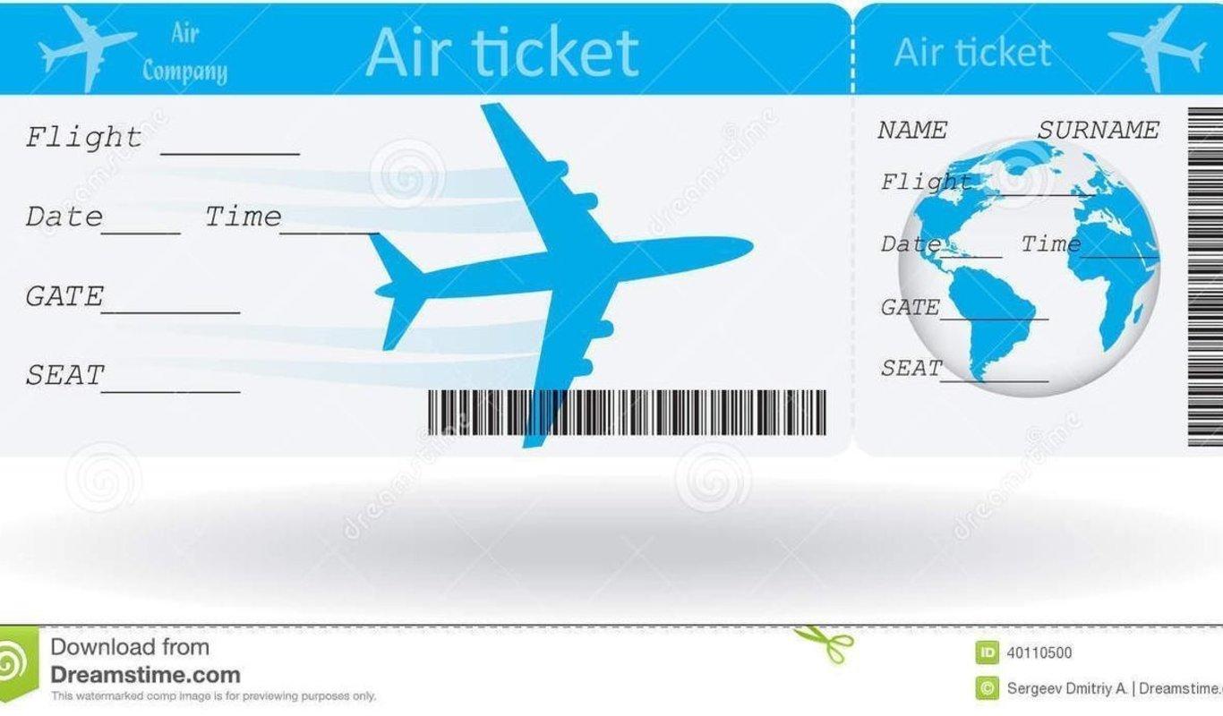 Resultado de imagen de billete de avion