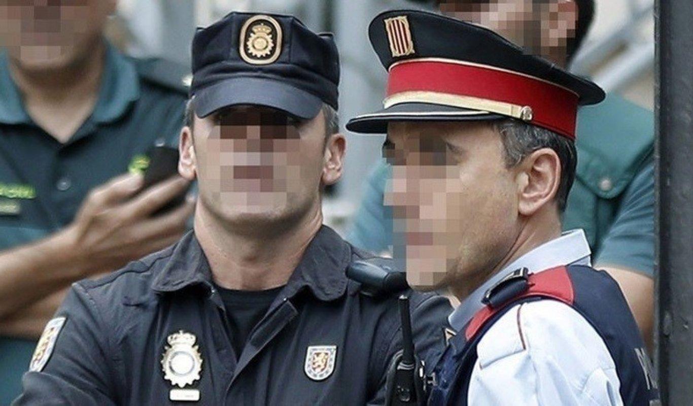 Agentes de la Policía Nacional, de la Guardia Civil y de los Mossos dEsquadra.
