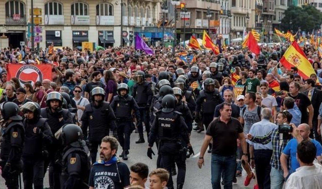 LA SUBDELEGACION DEL GOBIERNO PROHIBE A LA CUP MANIFESTARSE EN VALENCIA EL 9 DE OCTUBRE