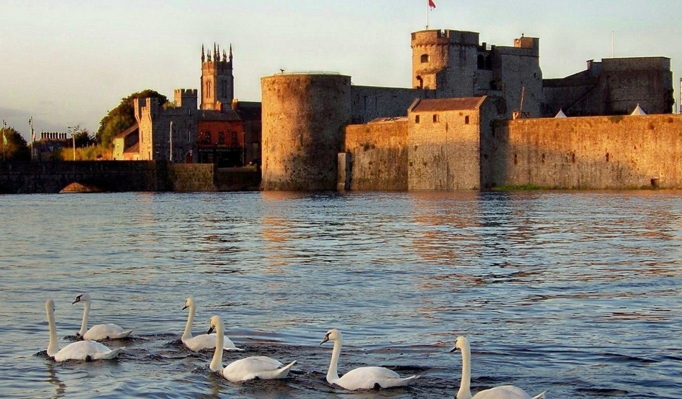 King John's Castle Limerick City at sunset