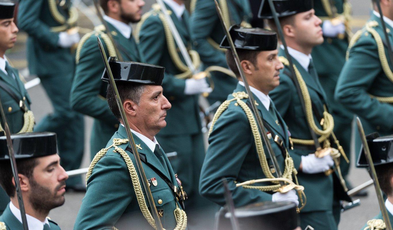La Guardia Civil, en el desfile 12 octubre 2018. Álvaro García Fuentes (@alvarogafu)