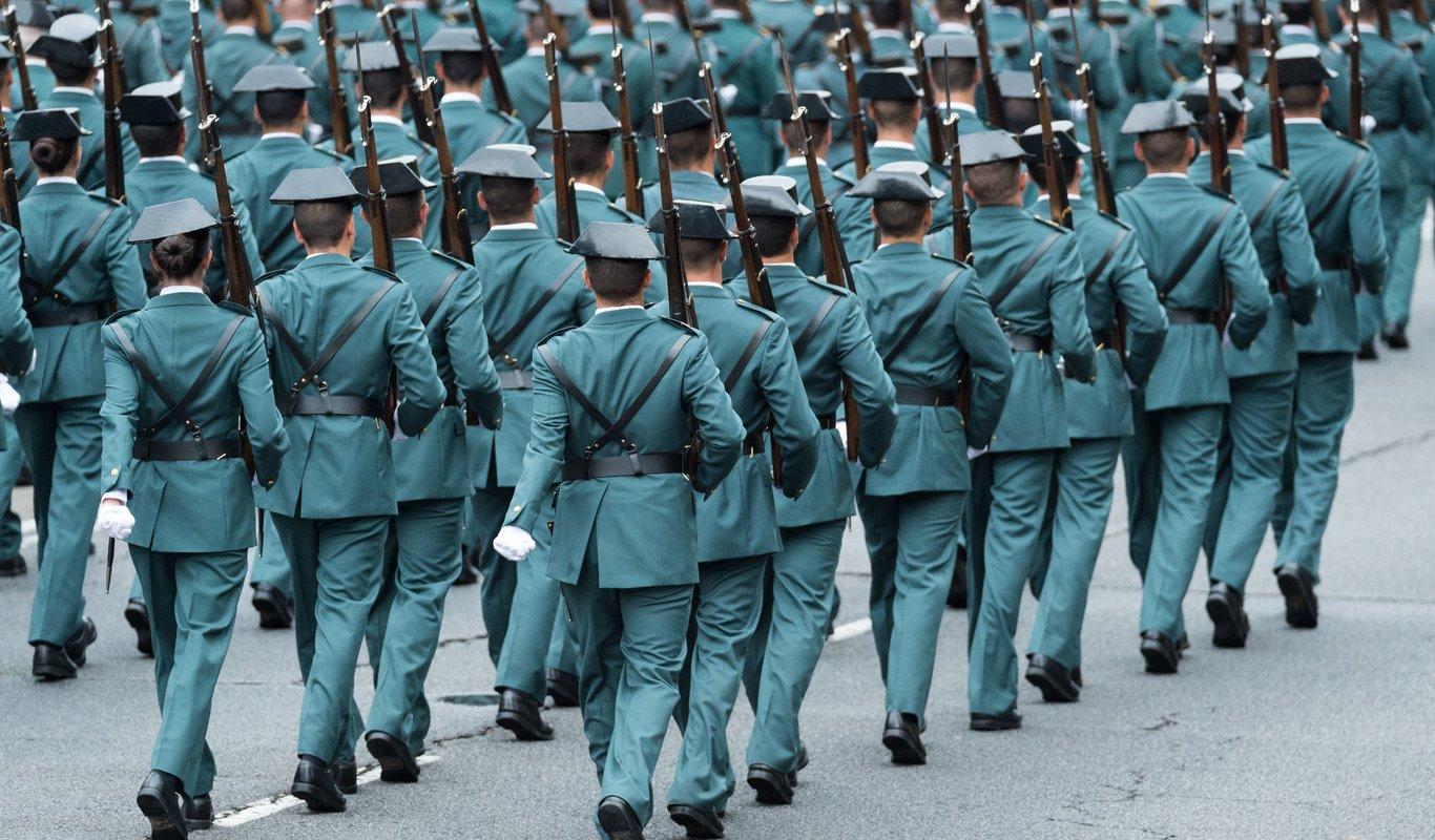 La Guardia Civil en el desfile el 12 de octubre de 2018 (Foto: Álvaro García Fuentes @alvarogafu).