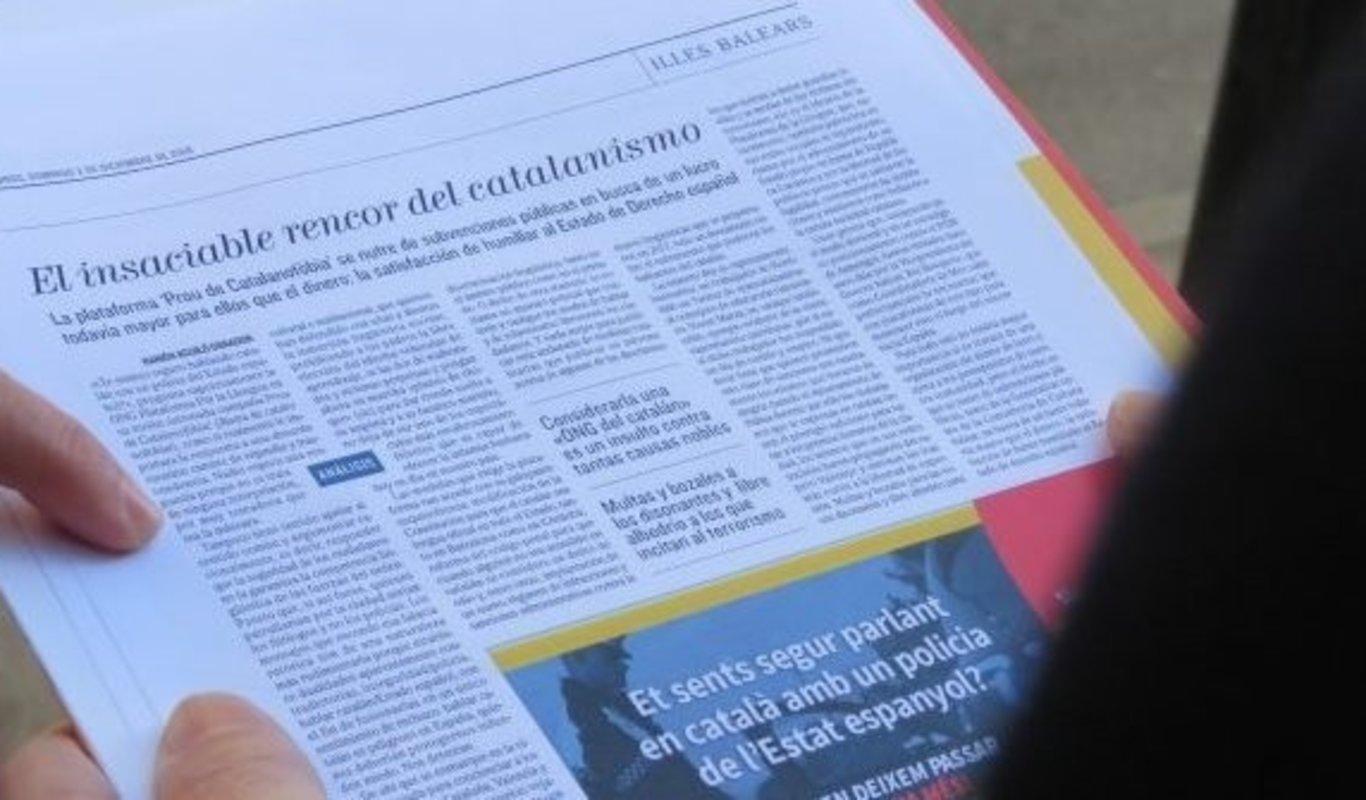 Demanda contra El Mundo de una asociación catalanista por acusarle de `filoterrorismo`