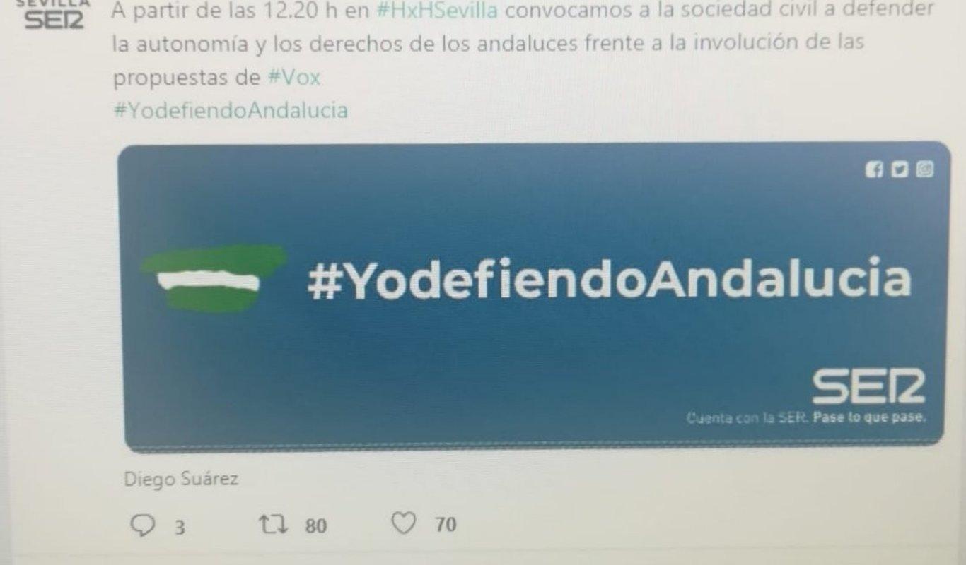 La Cadena SER llama a la movilización `antiVox` desde su emisora en Sevilla