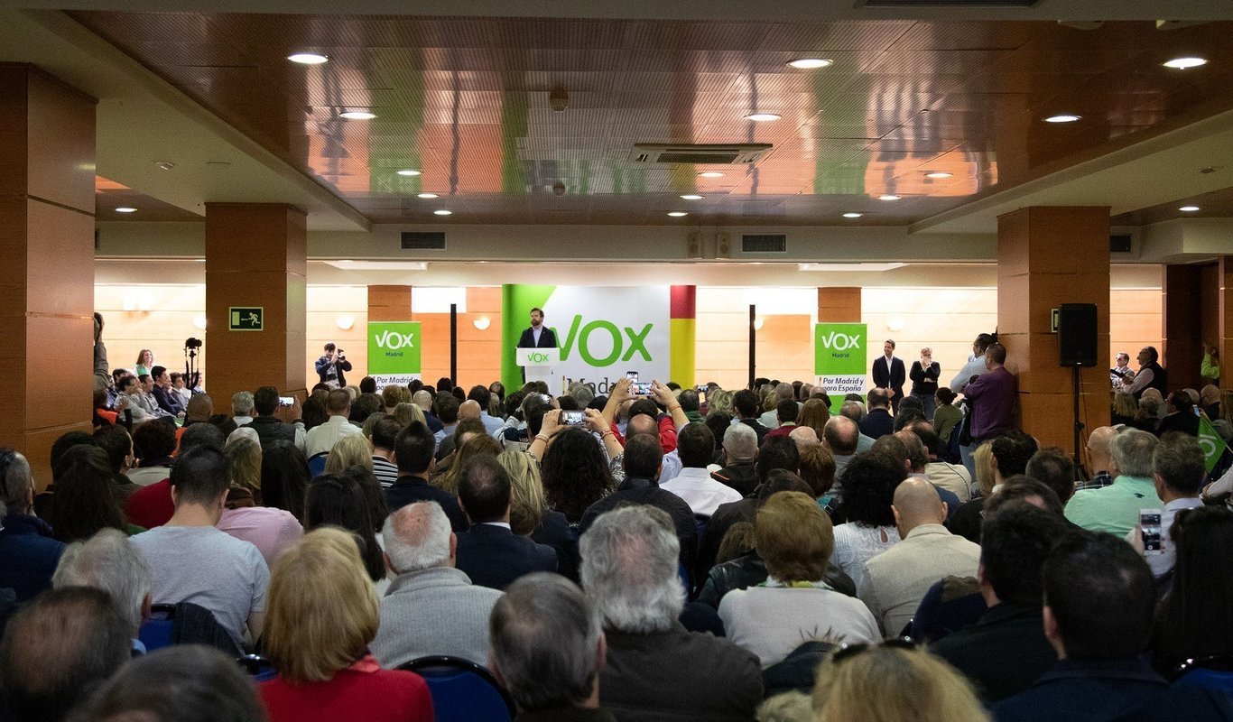 Acto de Vox en Madrid.