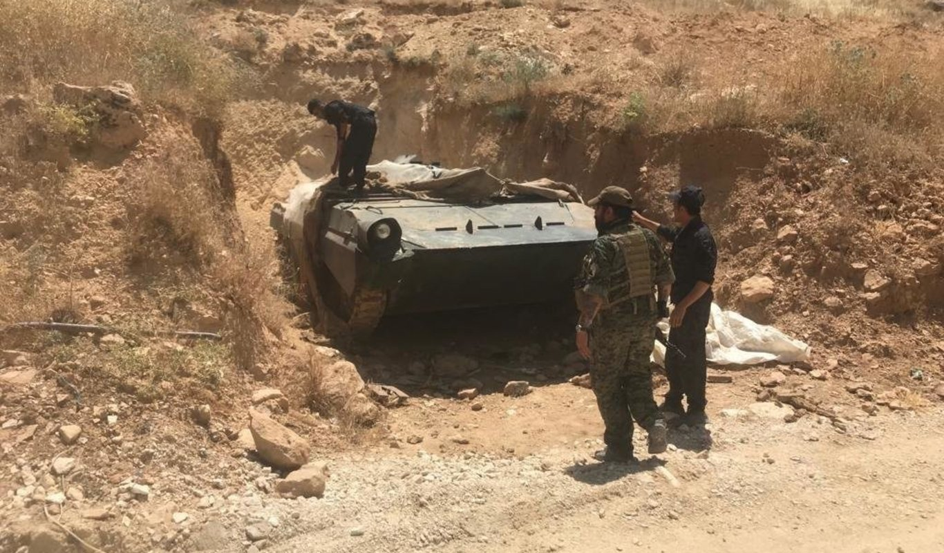 Carro blindado confiscado al Daesh en Iraq.