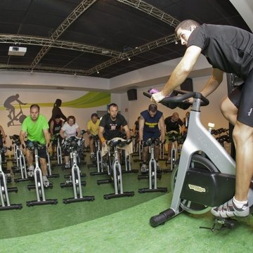Clase de spinning.