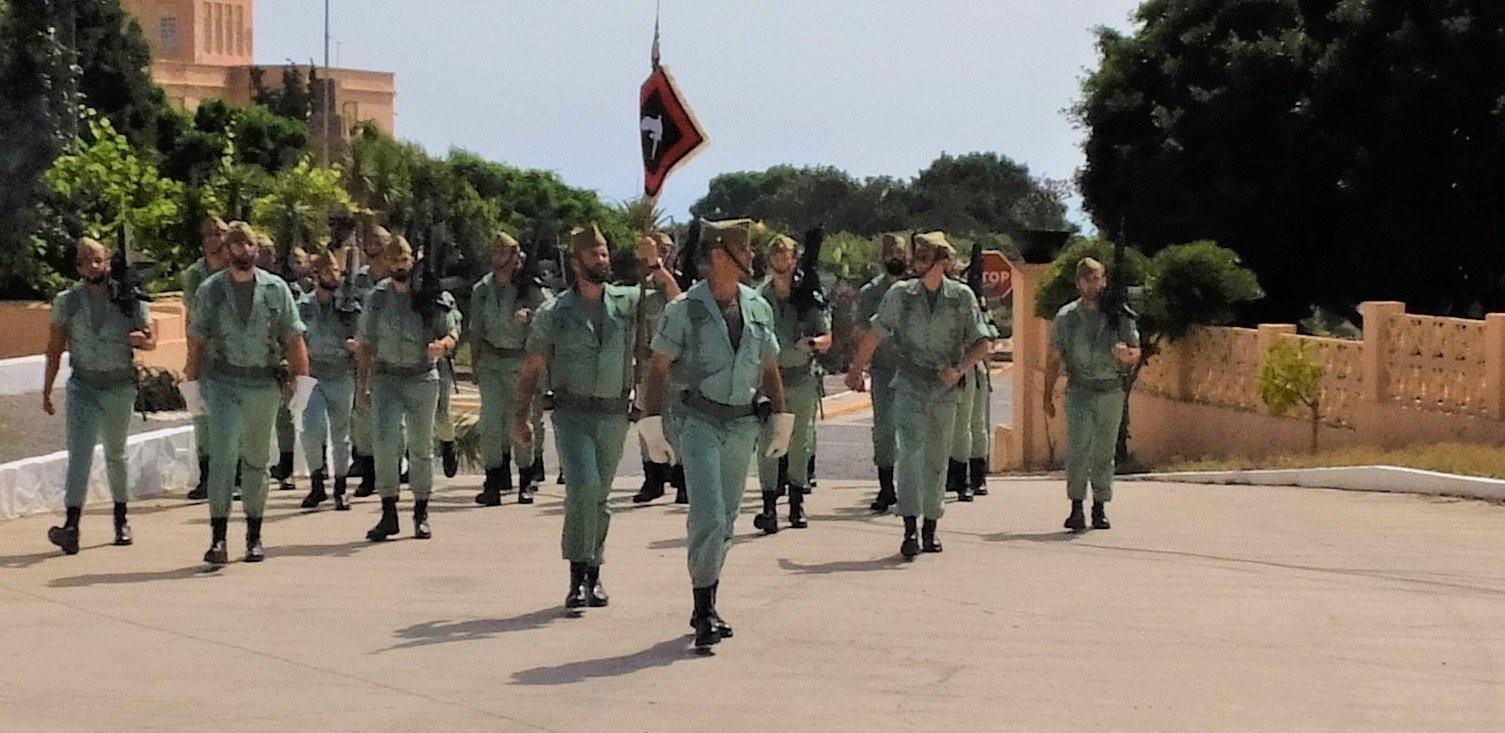 La Legión recupera el histórico banderín de la 13ª compañía