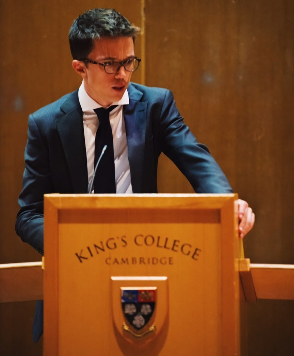 Íñigo Errejón, en la Universidad de Cambridge.