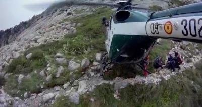 Vea el rescate de la Guardia Civil en el Pirineo
