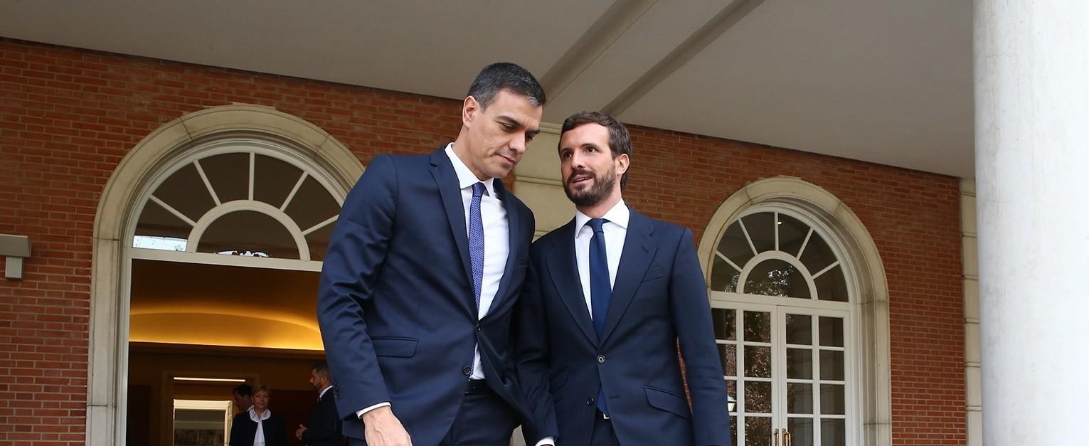 La llamada de Sánchez a Casado esconde un toque de atención a Pablo Iglesias