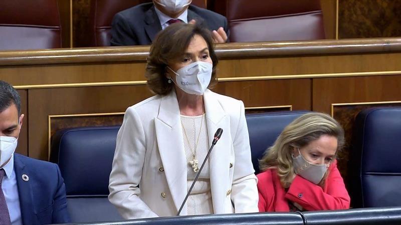 Carmen Calvo, obligada por Transparencia a justificar dos viajes durante el estado de alarma por el Covid